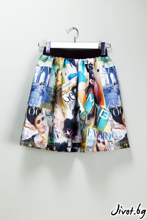 Къса пола Fashion Magazin / VЯRA за MUSE SHOP