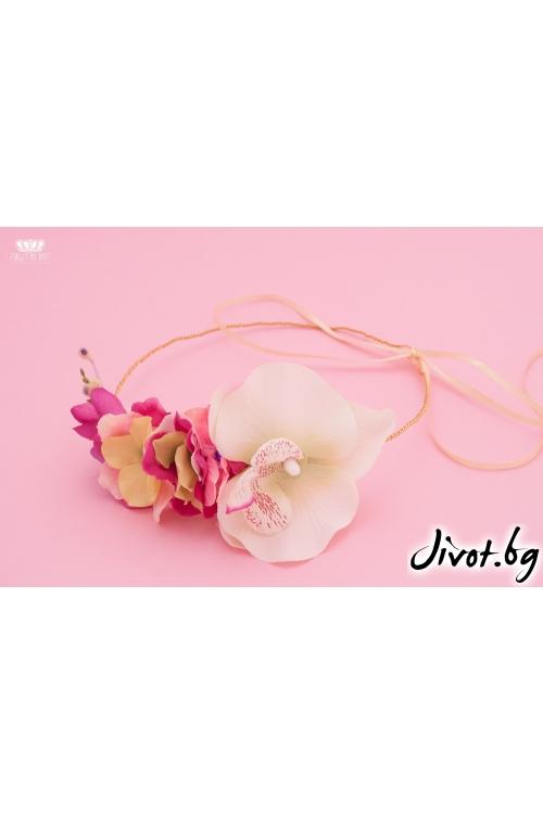 """Аксесоар за коса от цветя с регулиране на размера """"Doll""""/Forget-me-not"""