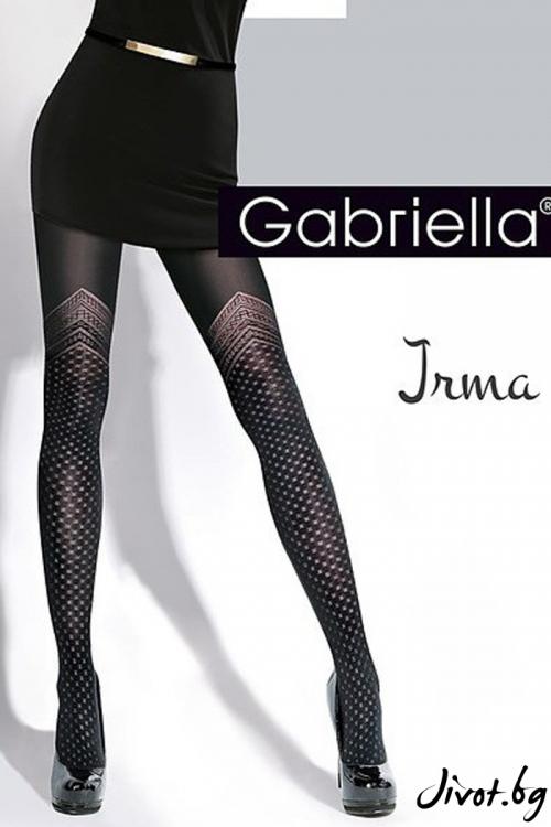 Черен дамски чорапогащник с красиви фигури 60DEN / Gabriella IRMA /323