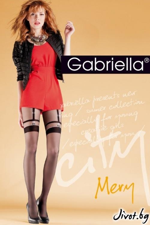 Дамски чорапогащник с имитация на жартиери Gabriella MERY / 727