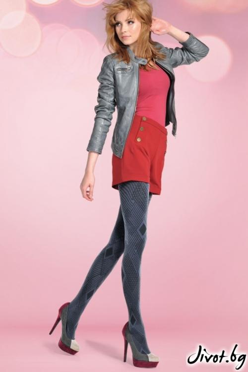 Фигурален дамски чорапогащник с геометрична шарка Gabriella MADDY / 327