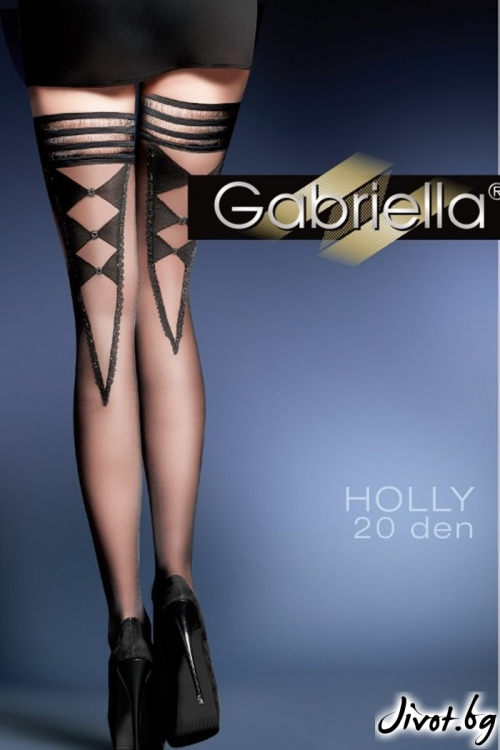 Черни силиконови дамски чорапи 20 DEN / HOLLY / 432