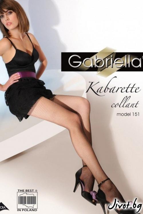 Дамски мрежест чорапогащник Gabriella / KABARETTE 230