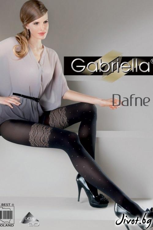 Черен фигурален Чорапогащник Gabriella / DAFNE
