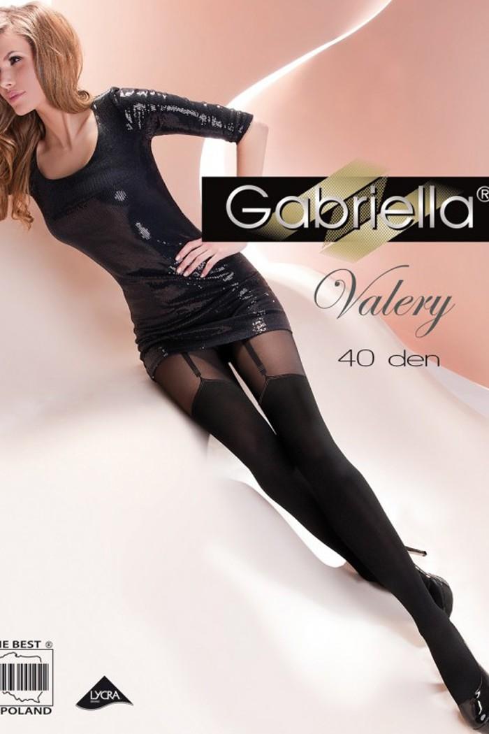 Черни Фигурални Чорапогащи Gabriella / VALERY / 260