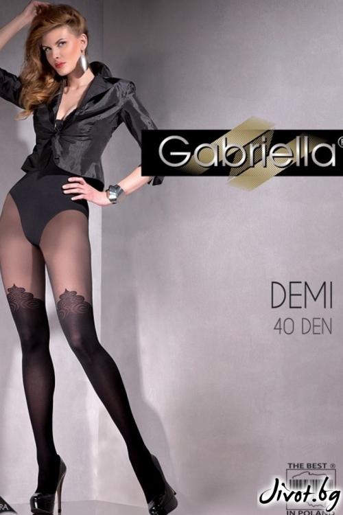 Черни Фигурални Чорапогащи Gabriella /DEMI / 389