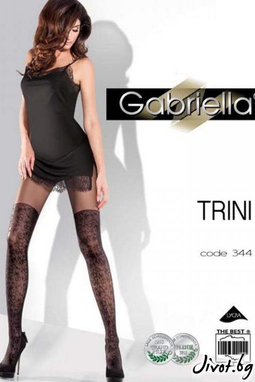 Черни Фигурални Чорапогащи Gabriella / TRINI / 344