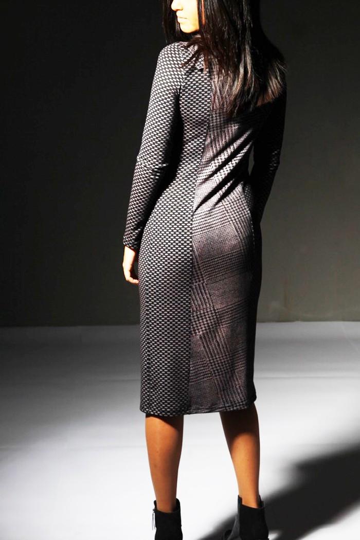 Дамска рокля от трико в два цвята / Модна къща АМБИЦИЯ
