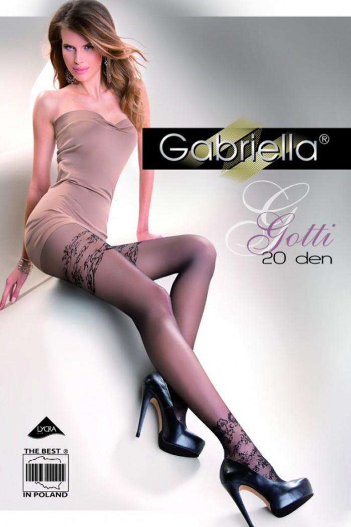 Черни Фигурални Чорапогащи Gabriella / GOTTI / 283