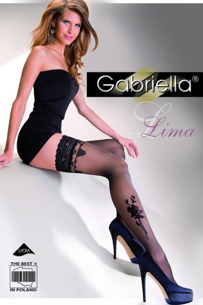 Дамски фигурални чорапи със силикон / LIMA / 248