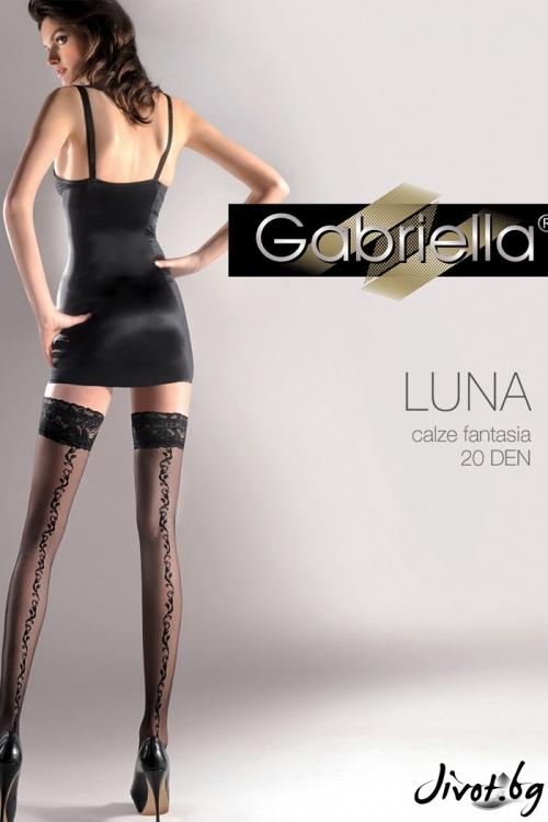 Дамски дълги чорапи със силиконова лента / LUNA / 209