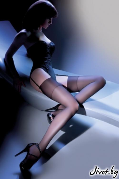Дамски дълги чорапи за жартиери / CHER