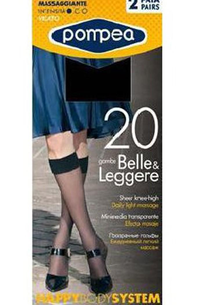 Къси дамски чорапи 20 den, без ограничител на пръстите 2 бр POMPEA