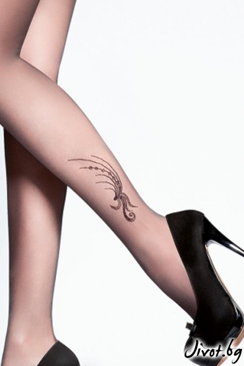 Дамски чорапогащи с татуировка Gabriella POLINA / 315