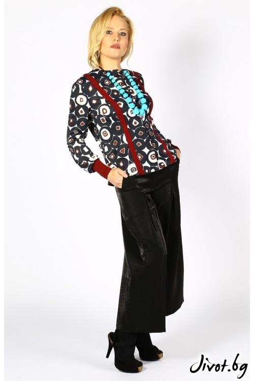 Черен панталон с висока талия / Модна къща АМБИЦИЯ