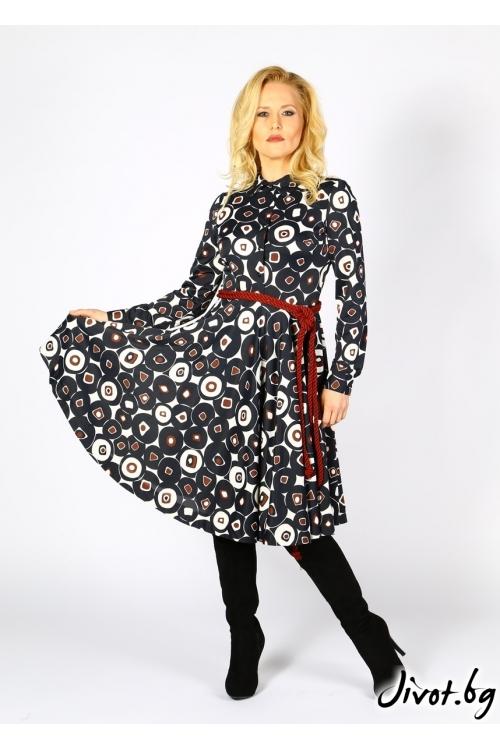 Красива рокля с винтидж визия / Модна къща АМБИЦИЯ