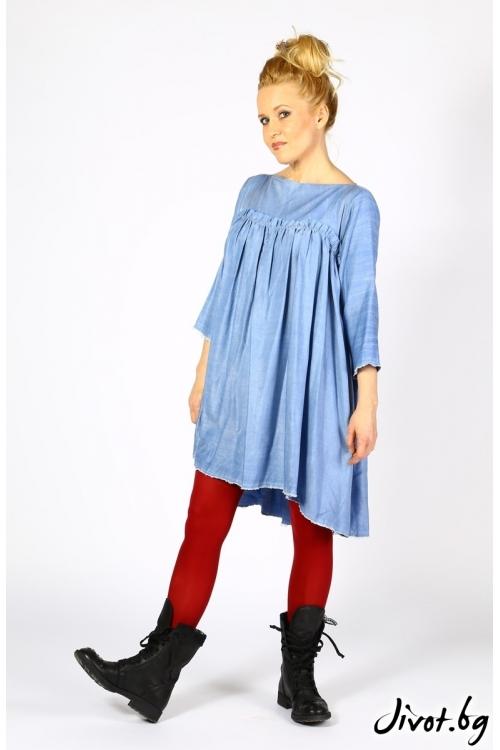 Ръчно изработена рокля от тънък деним / Райна Косовска