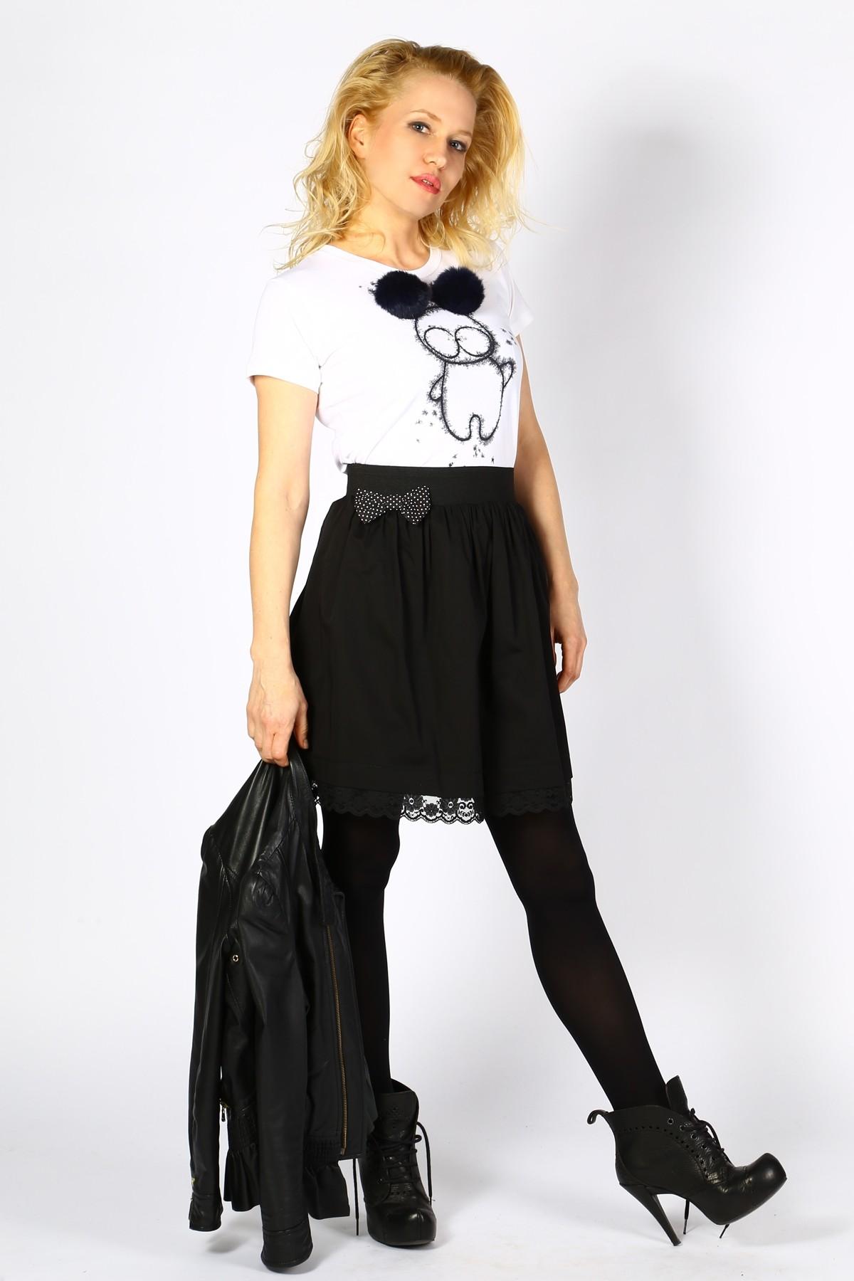Дизайнерска черна пола с дантела / Cherie Marie