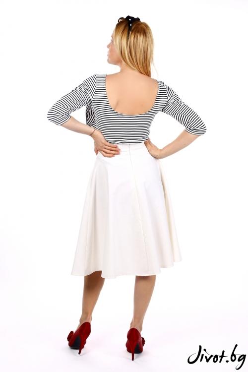 Дамска раирана блуза с декорация / SHOP MY J