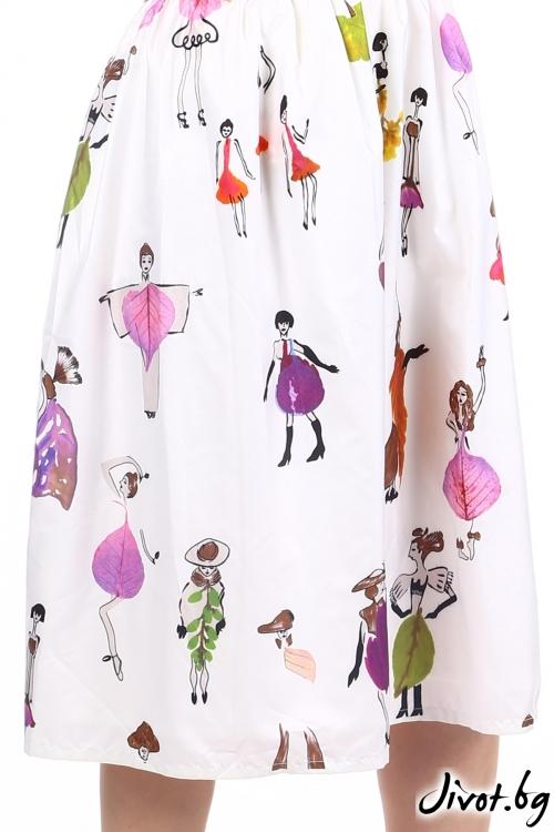 Закачлива дамска пола с джобове / SHOP MY J