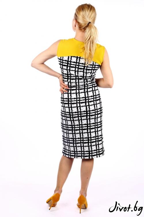 Елегантна дамска рокля от фин неопрен / SHOP MY J