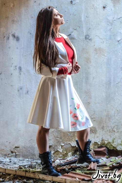Бяла пола с макове / ALENIA