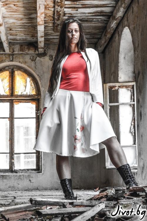 Бяло дамско сако / ALENIA