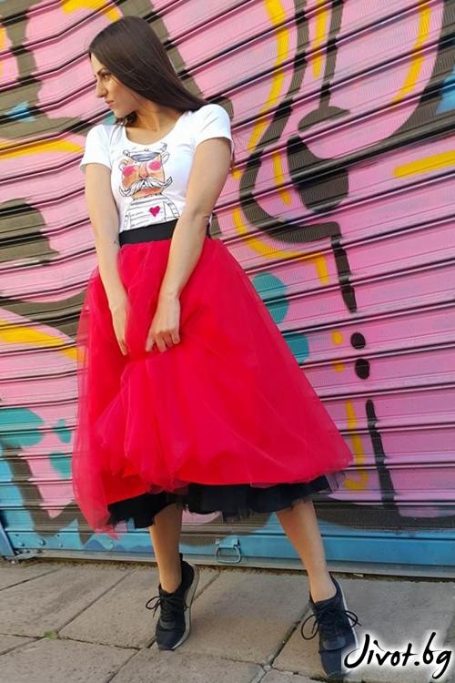 Дамска пола от два цвята тюл / Свeтла Ангелова за MUSE SHOP