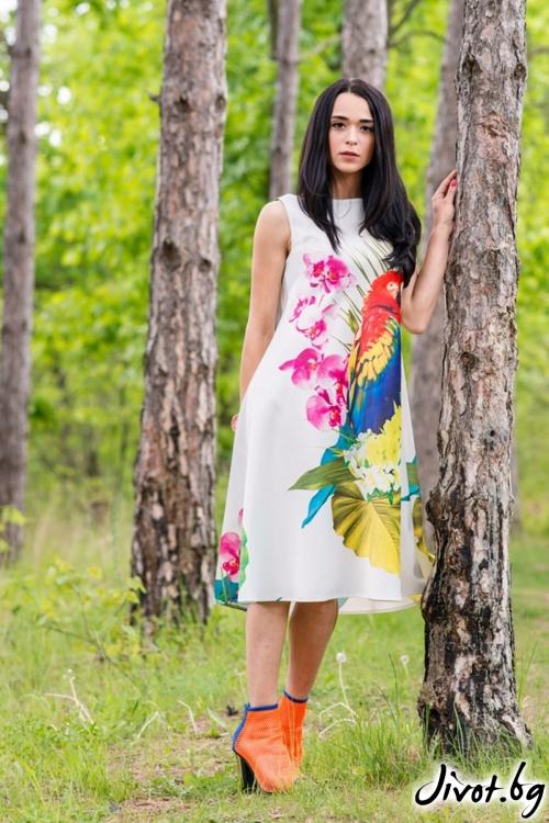 Дамска рокля без ръкави / JUST T.K.