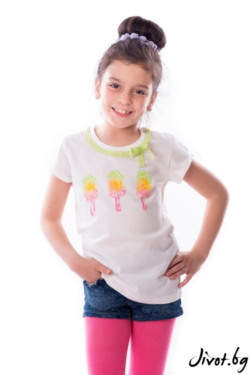 """Детска блуза """"Сладолед"""" / White Berry"""