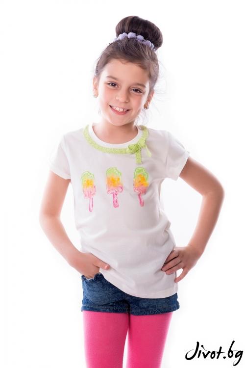 "Детска блуза ""Сладолед"" / My Magenta"