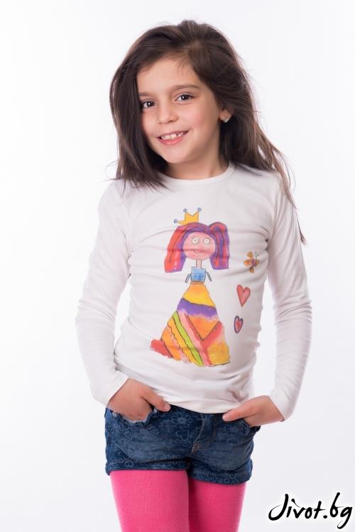 "Детска блуза ""Принцеса"" / My Magenta"
