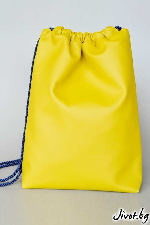 Ръчно изработена жълта раница / Joanna Palankova