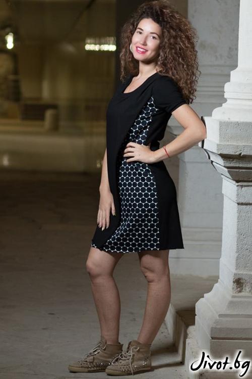 Черна къса дамска рокля / GUGOSHEVA