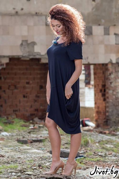 Асиметрична дамска рокля / GUGOSHEVA