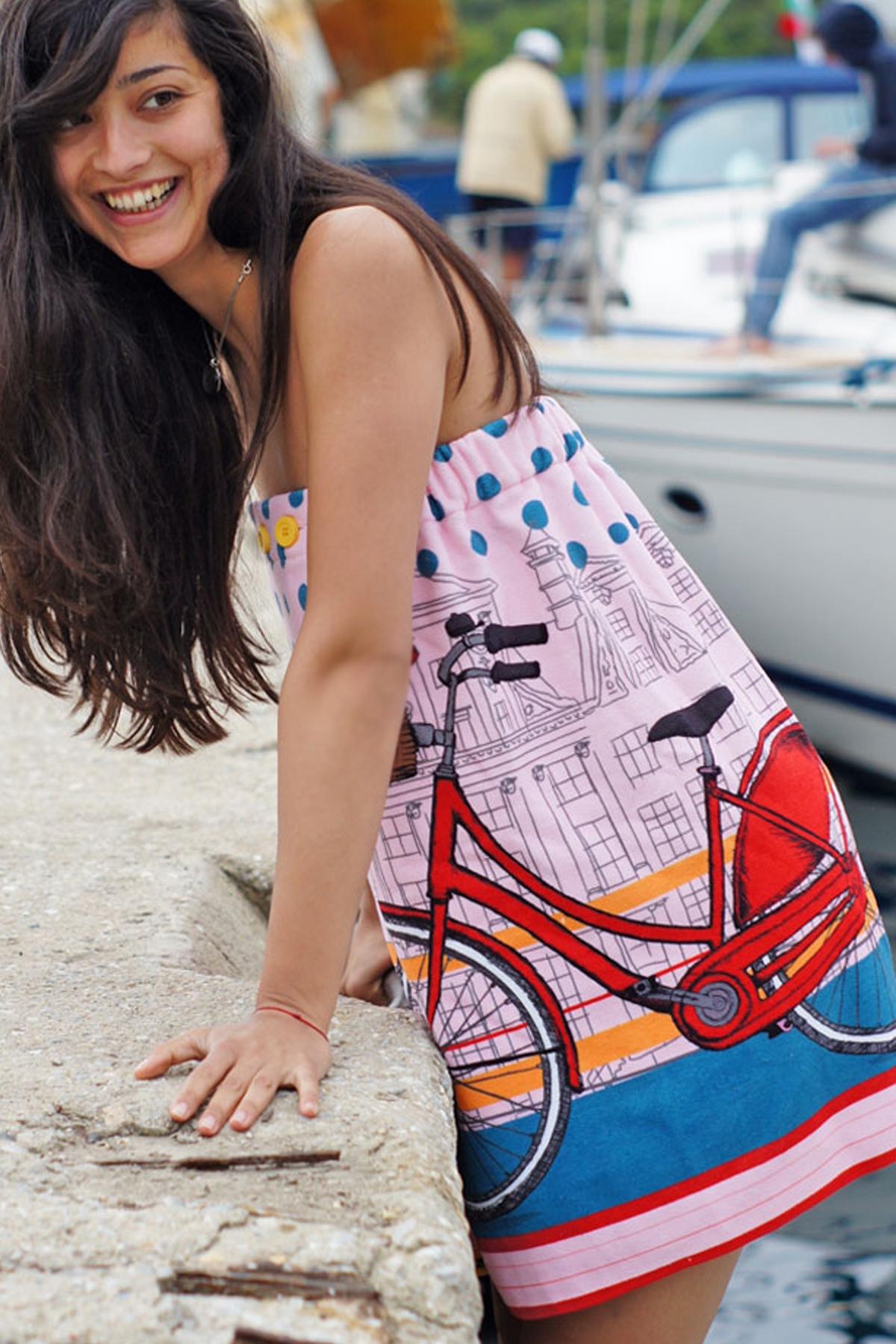 Дамска плажна рокля с колело / BUNGA