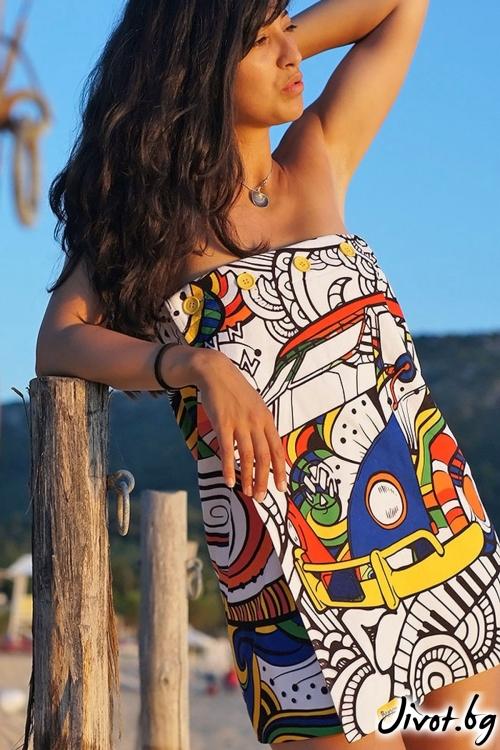 Hippie плажна рокля, кърпа и парео в едно