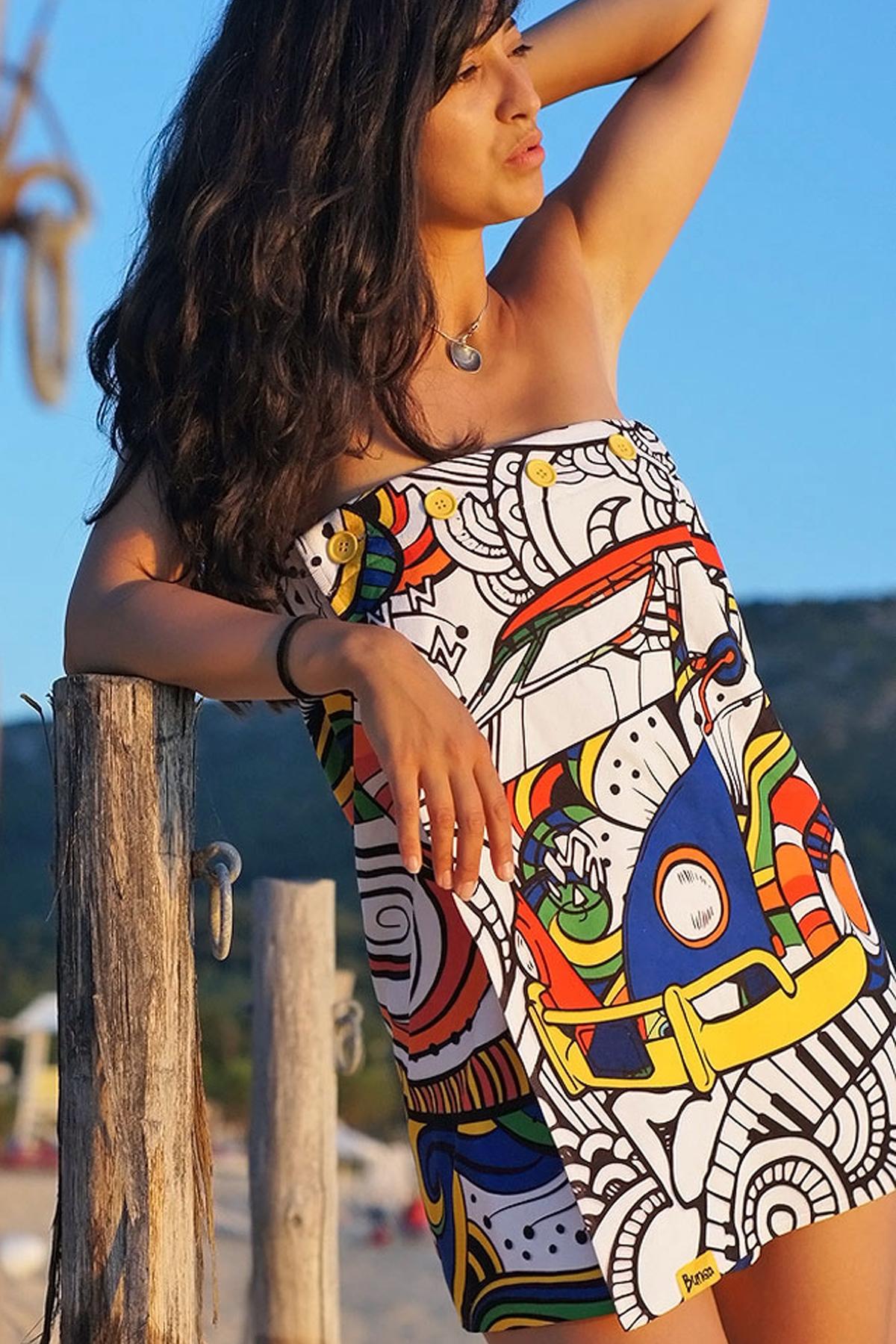 Плажна дамска рокля HIPPIE