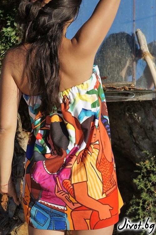 PARTY плажна рокля, кърпа и парео в едно