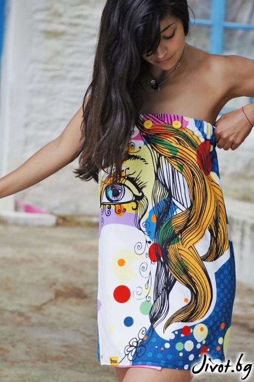 Парео, плажна рокля и кърпа в едно FACE