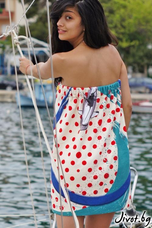 Плажна дамска рокля FISHES