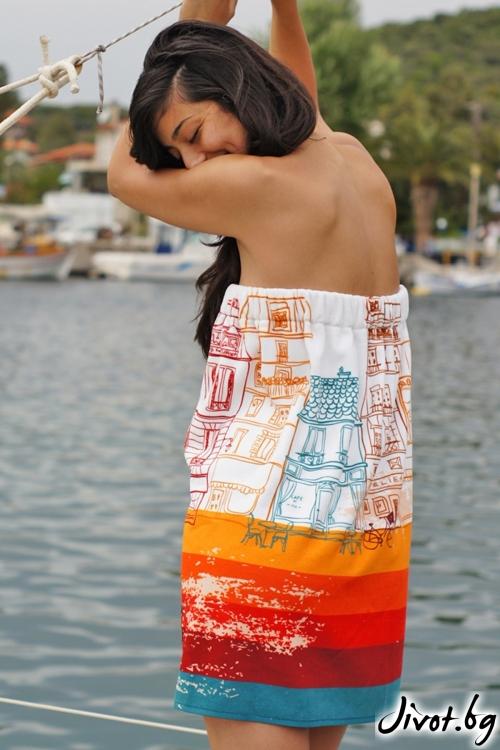 Плажна рокля,парео и кърпа в едно JOURNEY