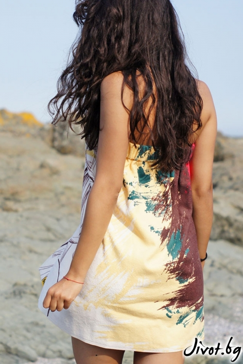 Плажна дамска рокля, парео GIRL