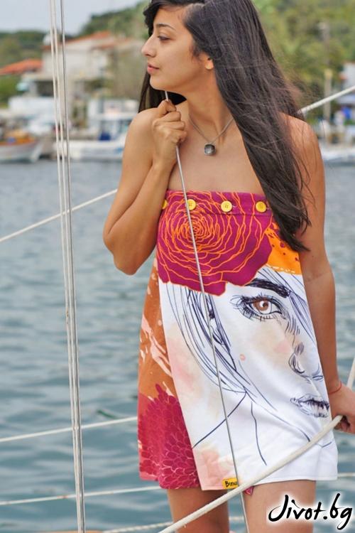 Плажна дамска рокля, парео FLOWER GIRL
