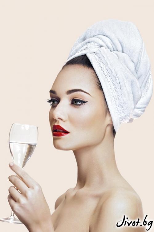 Бяла кърпа Aglique GRACE / Кърпи за коса