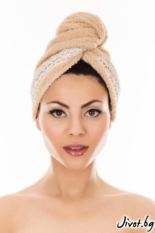 Кърпа за коса AGLIQUE GRACE BEIGE