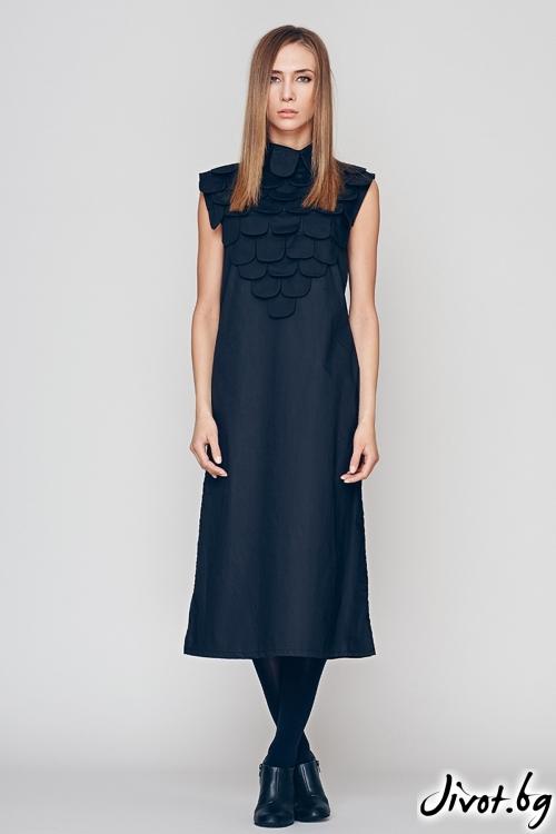 Черна дълга рицарска рокля / туника - Maria Queen Maria