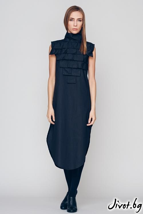 Черна дълга дамска рокля / туника - Maria Queen Maria