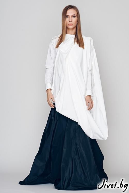 Бяла дамска деконструктивна риза / Maria Queen Maria