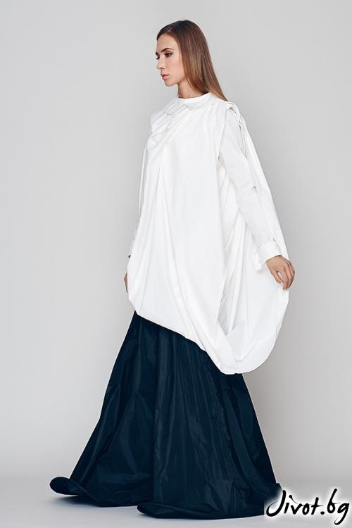 Бяла дамска риза - Maria Queen Maria